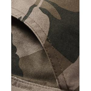 Straight Leg Camouflage Military Army Cargo Pants - EARTHY 3XL