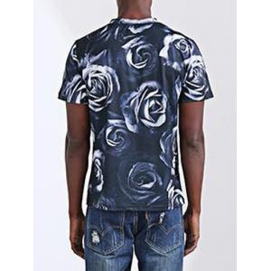 Casual Letter Printed Round Collar Short Sleeves T-Shirt For Men -