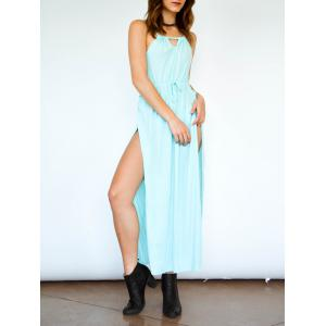 Spaghetti Strap Thigh High Split Maxi Dress