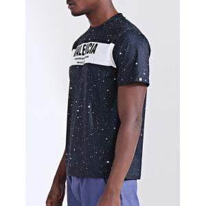 Casual Printed Round Collar Short Sleeves T-Shirt For Men -