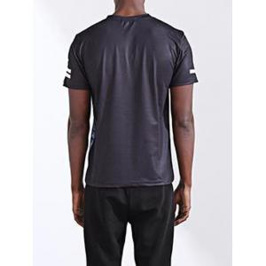 Fashion Letter Printing Round Collar Short Sleeves T-Shirt For Men - COLORMIX XL