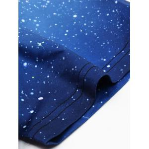 Abstract 3D Star Print Round Neck Short Sleeves T-Shirt For Men -