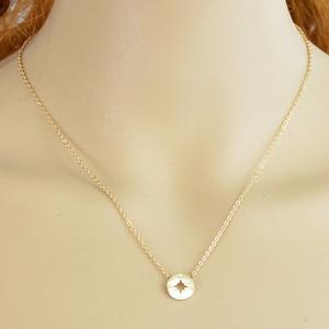 Vintage Compass Hollow Out Necklace For Women -