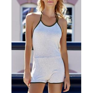 Women's Stylish Sleeveless Backless Halter Romper