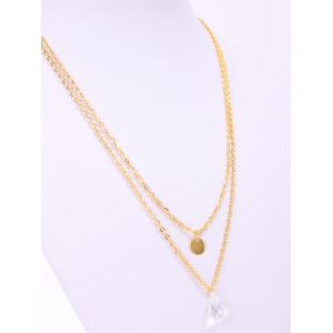 Stylish Waterdrop Double-Layered Necklace For Women -