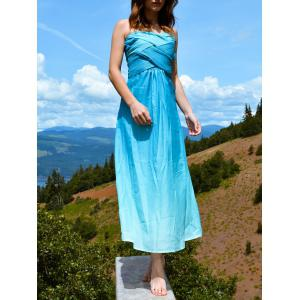 Bandeau Ombre Bandage Maxi Holiday Dress