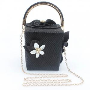 Chic Flower and Cube Shape Design Evening Bag For Women -