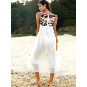 Ethnic Style Round Neck Sleeveless Embroidery Dress For Women -