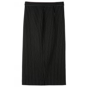 Striped Elastic Skirt -