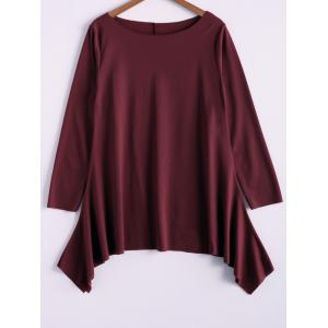 Fashionable Skew Neck Loose-Fitting T-Shirt For Women