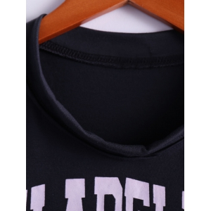 Tiger Letter Print Cotton Cropped Tank Top - DEEP GRAY ONE SIZE