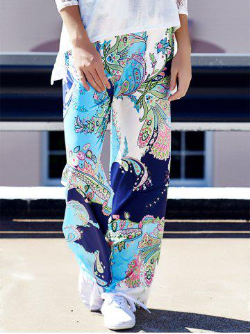 Shop Floral Wide Leg Boho Palazzo Pants COLORMIX S