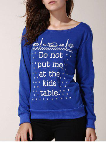 Women's Stylish Long Sleeve Round Neck Letter Pattern Sweatshirt