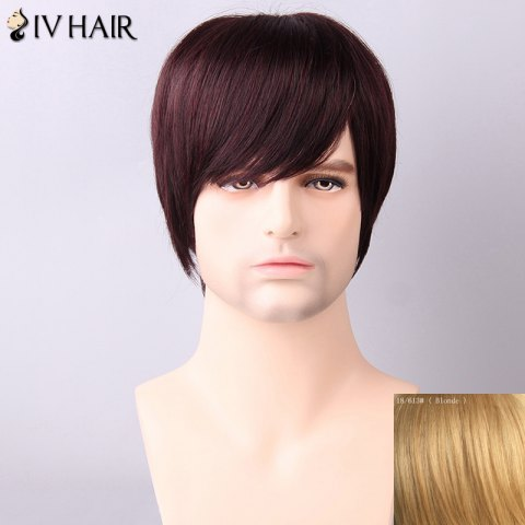 Shop Siv Hair Men's Straight Side Bang Human Hair Wig