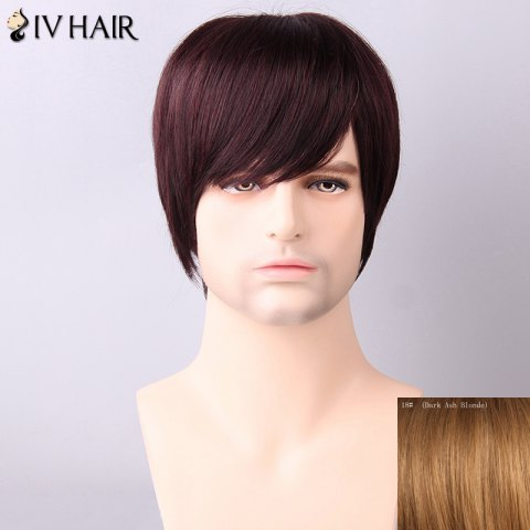 Shops Siv Hair Men's Straight Side Bang Human Hair Wig DARK ASH BLONDE