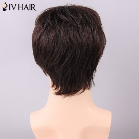 Discount Siv Hair Men's Trendy Side Bang Human Hair Wig - GOLDEN BROWN WITH BLONDE  Mobile