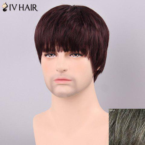 Buy Siv Hair Men's Straight Full Bang Human Hair Wig