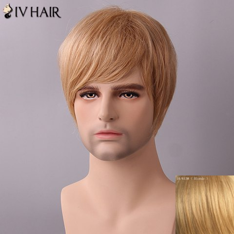 Latest Siv Hair Fluffy Straight Side Bang Human Hair Wig BLONDE