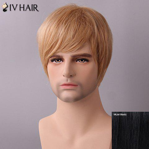 Shops Siv Hair Fluffy Straight Side Bang Human Hair Wig
