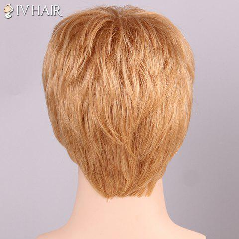Cheap Siv Hair Shaggy Full Bang Human Hair Men's Wig - GOLDEN BROWN WITH BLONDE  Mobile