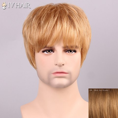 Chic Siv Hair Shaggy Full Bang Human Hair Men's Wig