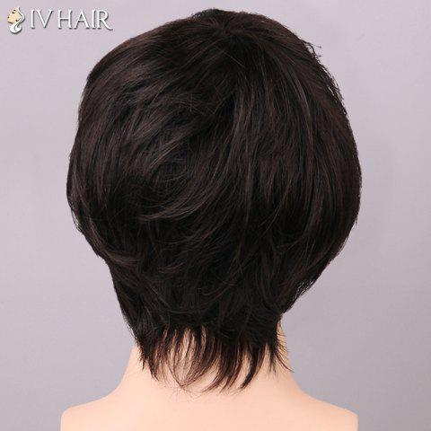 Best Siv Hair Shaggy Inclined Bang Human Hair Men's Wig - BLONDE  Mobile