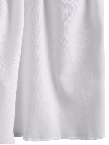 Outfits Simple Spaghetti Strap Loose-Fitting Backless Solid Color Women's Dress - S WHITE Mobile