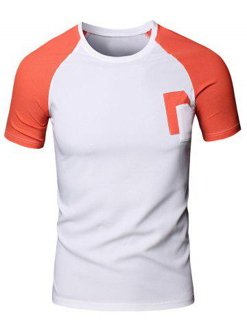 Outfit Sporty Men's Round Neck Splicing Short Sleeve T-Shirt JACINTH L