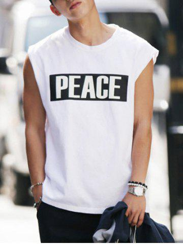 Online Modish Men's Round Neck Letter Printed Tank Top