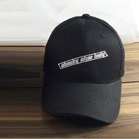 Latest Stylish Casual Letter Embroidery Hollow Circle Ring Baseball Cap For Women - BLACK  Mobile