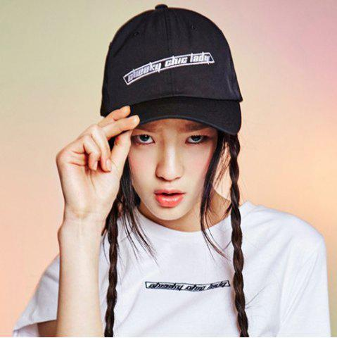 Unique Stylish Casual Letter Embroidery Hollow Circle Ring Baseball Cap For Women