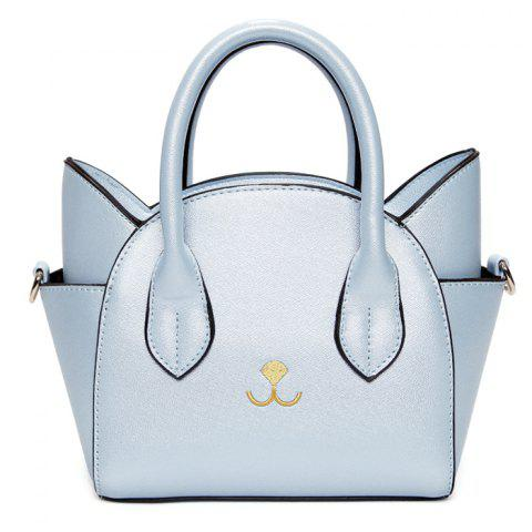 Online Cute Cat Shape and Solid Color Design Tote Bag For Women
