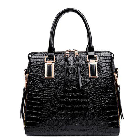 Fancy Fashionable Metal and Embossed Design Tote Bag For Women