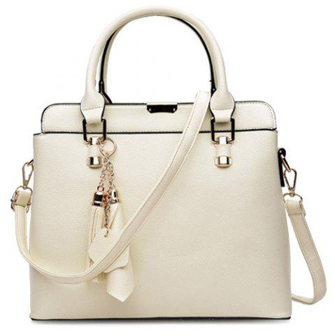 Fashion Concise Pendant and Solid Color Design Tote Bag For Women