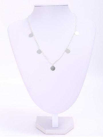 Outfits Chic Solid Color Sequins Embellished Necklace For Women