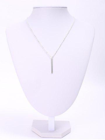 Outfit Trendy Women's Solid Color Stick Pendant Necklace