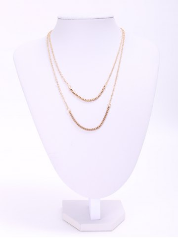 Trendy Chic Women's Bilayered Link Necklace