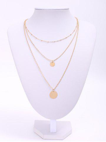 Outfit Chic Solid Color Sequins Embellished Multi-Layered Women's Necklace GOLDEN