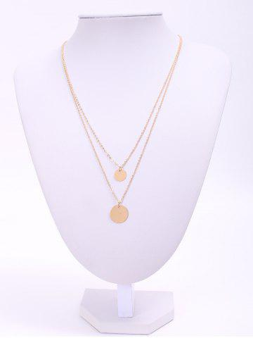 Shop Chic Layered Round Sequins Design Necklace For Women