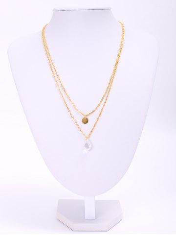 Fancy Stylish Waterdrop Double-Layered Necklace For Women