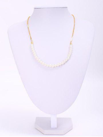 Hot Trendy Round Faux Pearl Women's Necklace