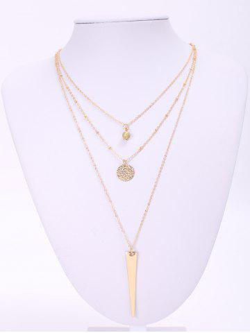 Outfit Trendy Matte Triangle Pendant Necklace For Women - GOLDEN  Mobile