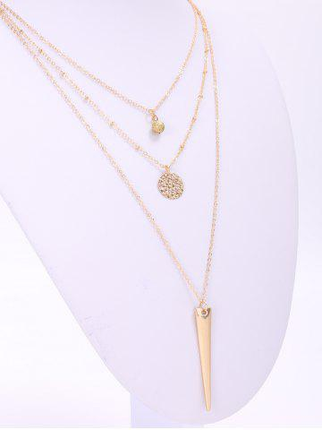 Latest Trendy Matte Triangle Pendant Necklace For Women - GOLDEN  Mobile