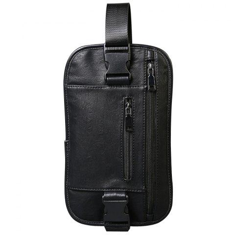 Fashion Stylish Black Color and Zip Design Messenger Bag For Men