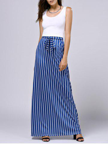 Sale Cropped Tank Top and Striped Pocket Maxi Skirt