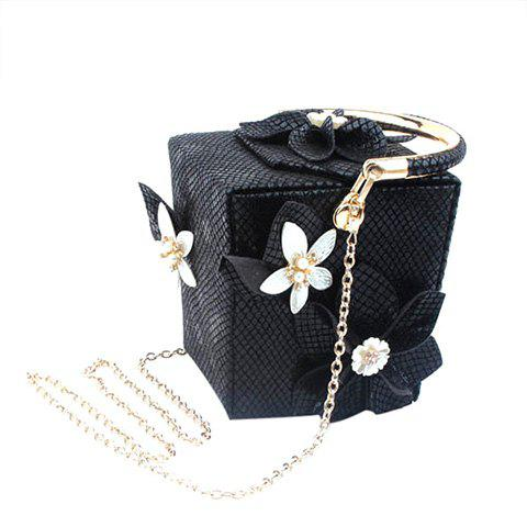 Shop Chic Flower and Cube Shape Design Evening Bag For Women