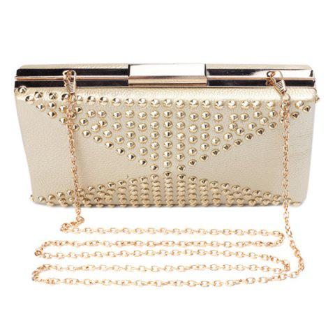 Shops Stylish Rivet and Solid Color Design Evening Bag For Women