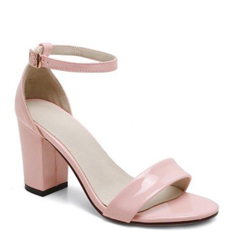 New Laconic Ankle Strap and Chunky Heel Design Sandals For Women