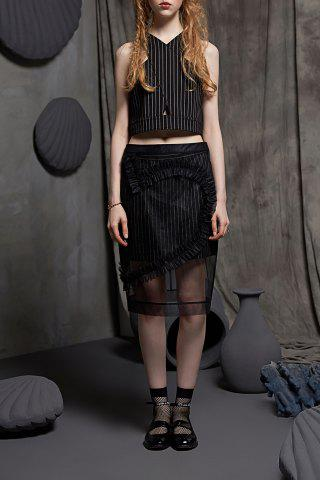 Outfit Sheer Heart Shirred Skirt