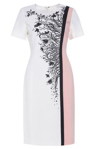 Shops Color Block Embroidered Sheath Dress